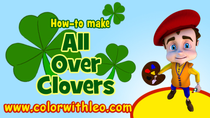 Click to create a St. Patrick's Day Four Leaf Clover for kids!