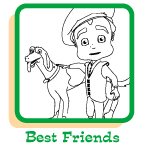 Click to view coloring pages to print of the best friends.