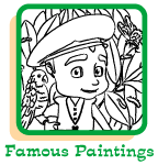 Click to view coloring pages to print of Leo in famous artist's paintings.