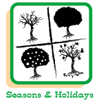 Click to view and print seasonal and holiday coloring pages.